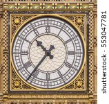 close up of the clock face of... | Shutterstock . vector #553047781