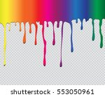 colorful paint dripping.paint... | Shutterstock .eps vector #553050961