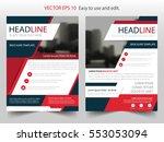 red black abstract brochure... | Shutterstock .eps vector #553053094