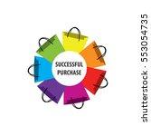 vector logo for the market ... | Shutterstock .eps vector #553054735
