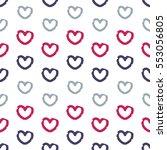 abstract heart pattern. vector... | Shutterstock .eps vector #553056805