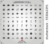 food icons. icons  restaurant...   Shutterstock .eps vector #553062391