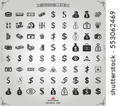 vector money icon set | Shutterstock .eps vector #553062469