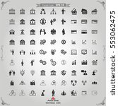 business icons. vector business ... | Shutterstock .eps vector #553062475