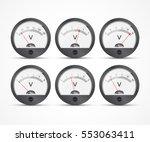 analog voltmeter icons of