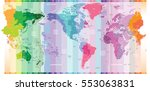 vector standard time zones of... | Shutterstock .eps vector #553063831