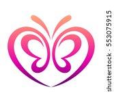 love butterfly | Shutterstock .eps vector #553075915