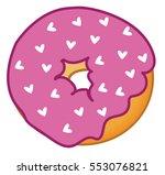 heart donut | Shutterstock .eps vector #553076821