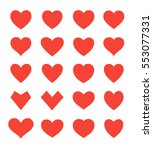 set of different shapes of... | Shutterstock .eps vector #553077331