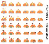 set icon hipster man with... | Shutterstock .eps vector #553083919