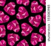 triangle heart shape symbols...   Shutterstock .eps vector #553083985