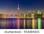 toronto city skyline from... | Shutterstock . vector #553084651