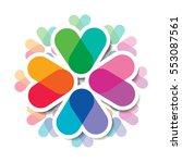 overlapping colors. modern...   Shutterstock .eps vector #553087561