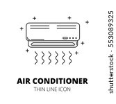 air conditioner. thin line icon. | Shutterstock .eps vector #553089325