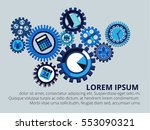 business mechanism concept in... | Shutterstock .eps vector #553090321
