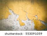 Chipping Yellow Plaster Paint...
