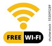 symbol wifi free sticker emblem ... | Shutterstock .eps vector #553095289