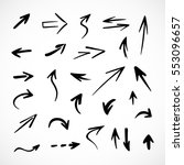 hand drawn arrows  vector set | Shutterstock .eps vector #553096657