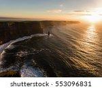 aerial ireland countryside... | Shutterstock . vector #553096831