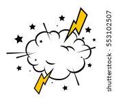 comic pop art explosion | Shutterstock .eps vector #553102507