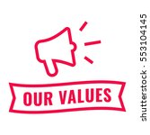 our values. ribbon and... | Shutterstock .eps vector #553104145