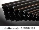 polyethylene tubes of different ... | Shutterstock . vector #553109101