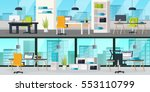 office interior horizontal... | Shutterstock .eps vector #553110799
