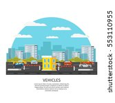modern vehicles template with... | Shutterstock .eps vector #553110955