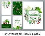 5 bright backgrounds with fresh ... | Shutterstock .eps vector #553111369