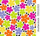 Stock vector flower background design 55311313