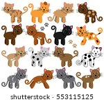 vector collection of cute and... | Shutterstock .eps vector #553115125
