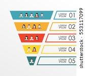 funnel infographics template... | Shutterstock .eps vector #553117099