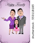 cartoon of a happy family... | Shutterstock .eps vector #553118185