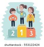 vector cartoon funny...   Shutterstock .eps vector #553122424