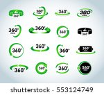 360 degrees view vector icons... | Shutterstock .eps vector #553124749