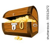 opened treasure chest  isolated ... | Shutterstock .eps vector #55312672