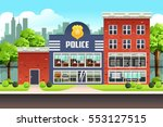 a vector illustration of police ... | Shutterstock .eps vector #553127515