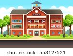 a vector illustration of school ... | Shutterstock .eps vector #553127521