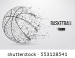 silhouette of a basketball ball.... | Shutterstock .eps vector #553128541