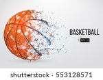 silhouette of a basketball ball.... | Shutterstock .eps vector #553128571