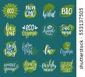 vector eco  organic  bio logos... | Shutterstock .eps vector #553137505
