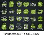 vector eco  organic  bio logos... | Shutterstock .eps vector #553137529