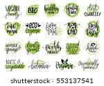 vector eco  organic  bio logos... | Shutterstock .eps vector #553137541