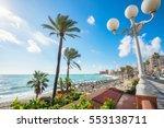beach of coastal benalmadena... | Shutterstock . vector #553138711