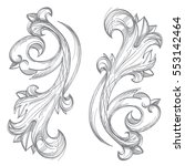 decorative floral element in... | Shutterstock .eps vector #553142464