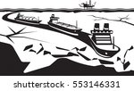 icebreaker make way for... | Shutterstock .eps vector #553146331