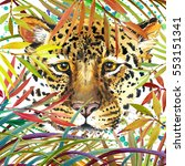 Leopard Watercolor Illustration.
