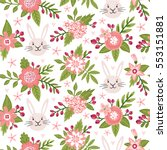 vector seamless pattern with... | Shutterstock .eps vector #553151881