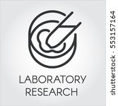black symbol of laboratory...   Shutterstock .eps vector #553157164