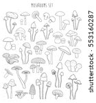 collection of hand drawn... | Shutterstock .eps vector #553160287